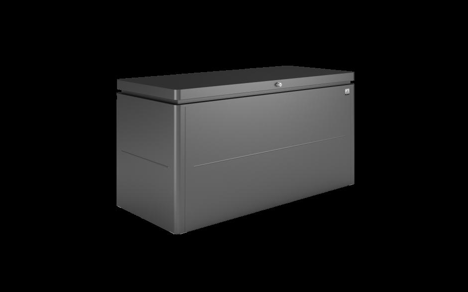 LoungeBox Gr. 160 dunkelgrau-metallic - (Aluminium)Deckel geschlossen