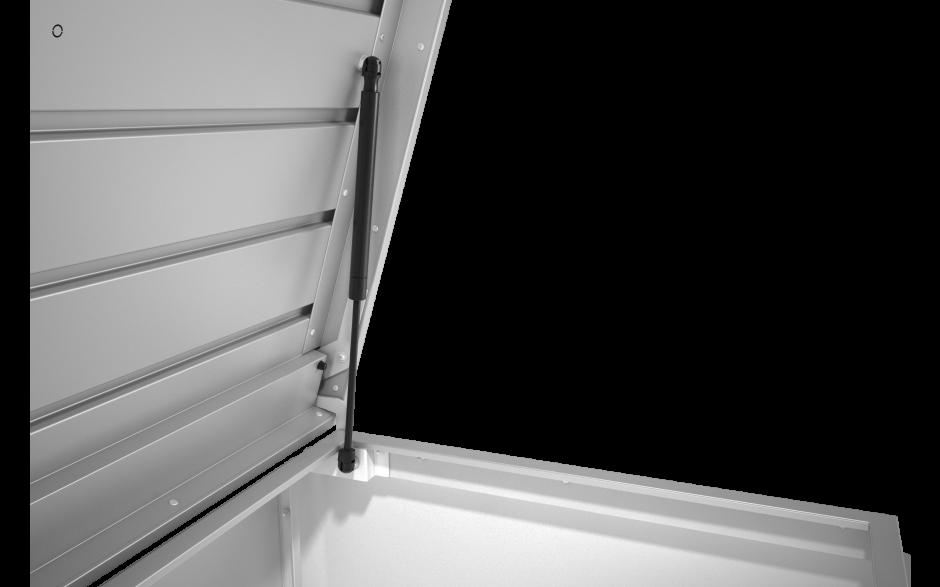 komfortable Deckelöffnung mit Gasdruckfeder