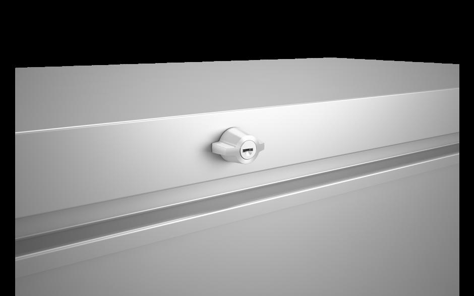 das Drehknebel-Zylinderschloss bietet maximale Sicherheit