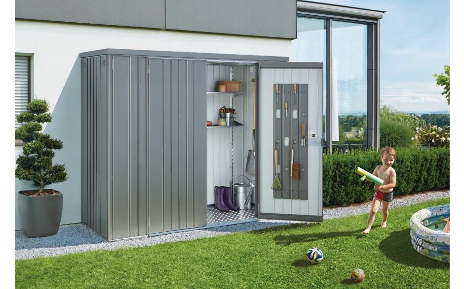 metalen tuinkast tuinkast metaal biohort. Black Bedroom Furniture Sets. Home Design Ideas