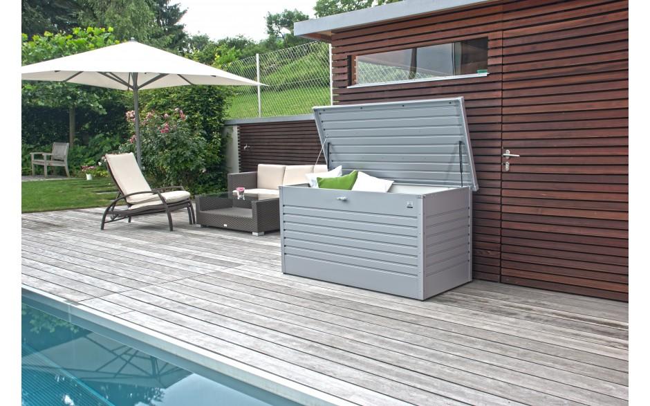 FreizeitBox Gr. 160 HIGH in silber-metallic - optimal für Lounge-Polster