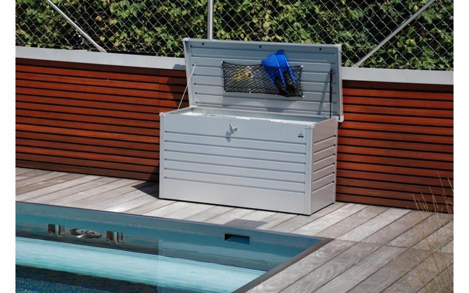 FreizeitBox Gr. 130 in silber-metallic - Deckelnetz als Zubehör erhältlich