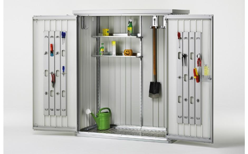 Metalen tuinkast tuinkast metaal biohort for Ikea armadi da esterno