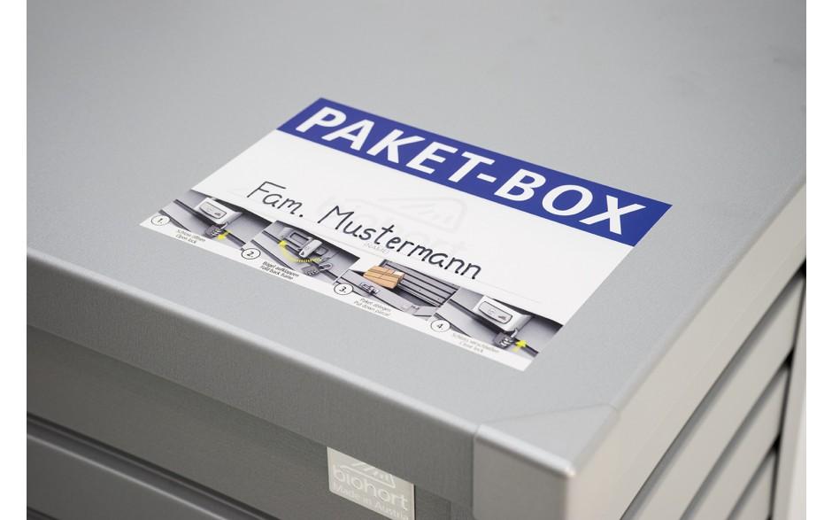 PAKET-BOX Aufkleber