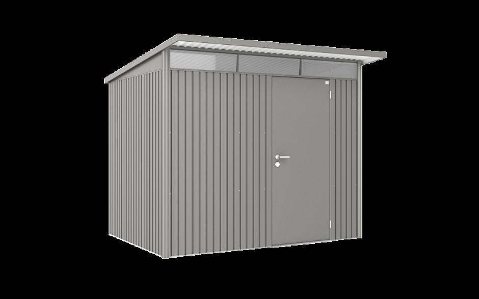 Sehr Gerätehaus AvantGarde® L quarzgrau-metallic Doppeltüre - Hage bod  QI72