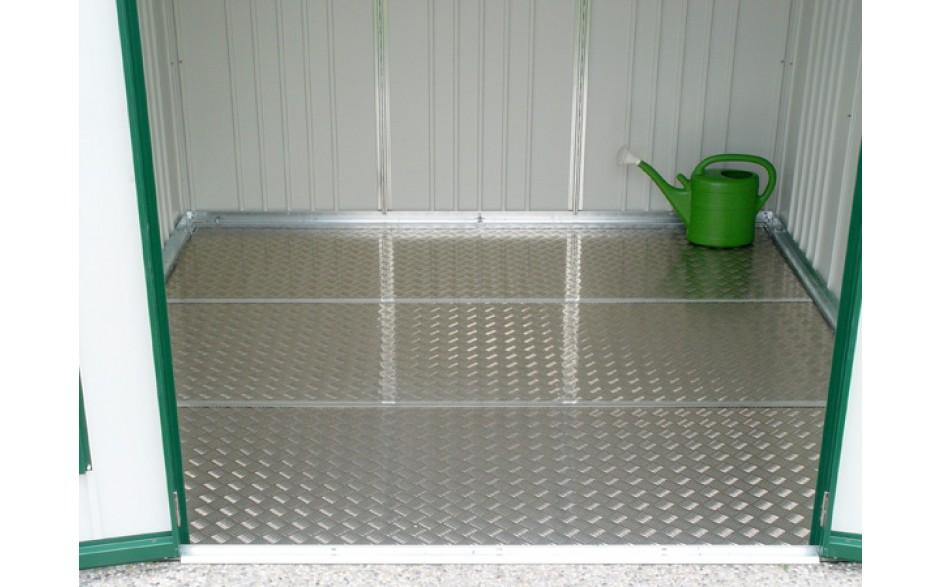 Optional: Bodenplatte - Hochwertiger Alu-Riffelblechboden, elegant und funktionell