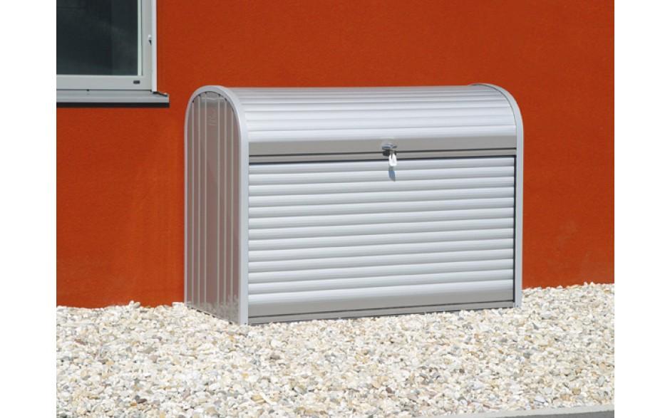 Funktionelles Design - Dezent elegant präsentiert sich die silber-metallic Oberfläche