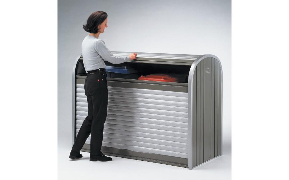 Einfache Handhabung - Leichtgängige Rollladen garantieren ein leichtes Öffnen und Schließen der Biohort-Rollbox