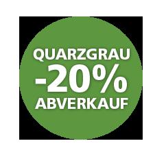 Abverkauf Farbe Quarzgrau -20%