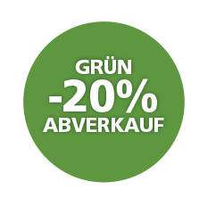 Abverkauf Farbe Grün -20%